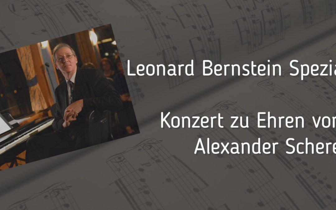 Leonard Bernstein Konzert zur Ehren Alexander Scherer ist nachgefragt